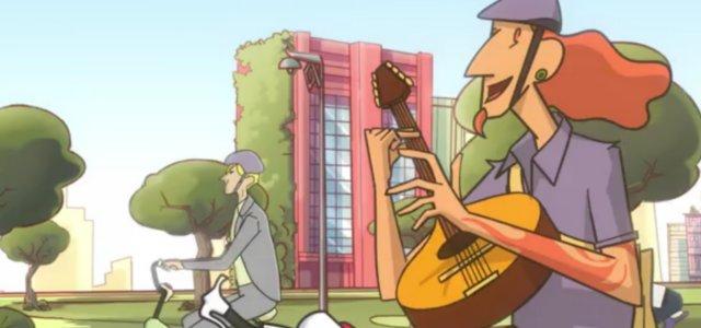 Бразильська анімація про велосипеди в Сан-Паулу