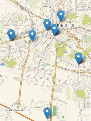 Мапа велоінфраструктури Львова