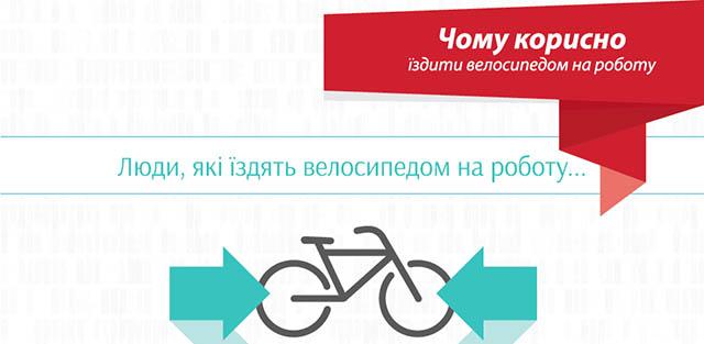 Чому варто їздити велосипедом на роботу (інфографіка)