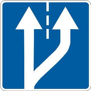 5.20.1 Початок додаткової смуги руху (справа)