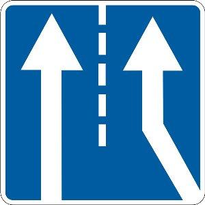 5.23 Прилягання додаткової смуги руху з правого боку