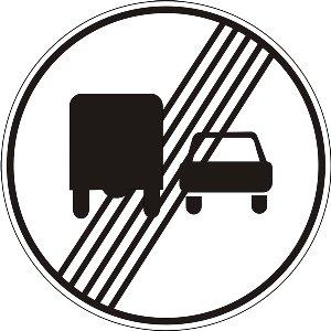 3.28 Кінець заборони обгону вантажним автомобілям