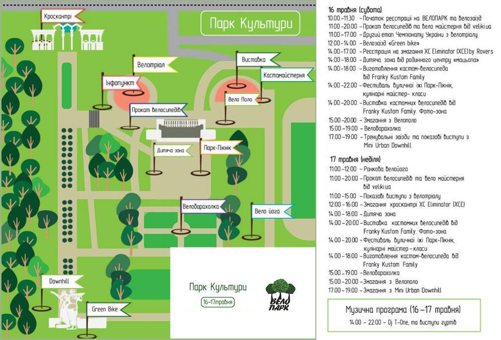 ВелоПарк. Програма фестивалю