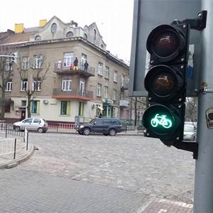 У Львові встановили світлофор для велосипедистів