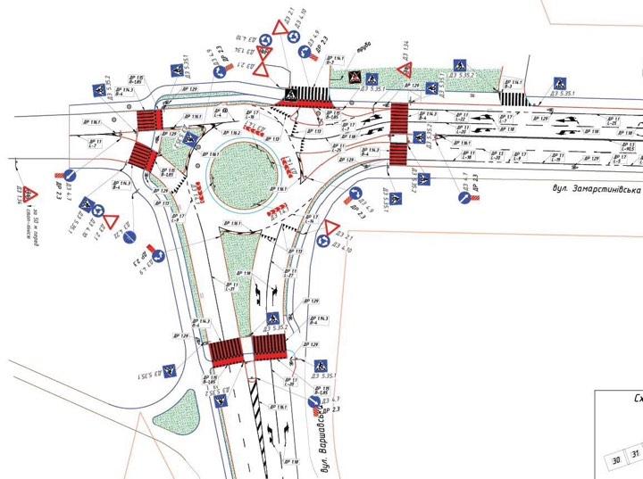 Кільце на перехресті Замарстинівська–Варшавська