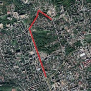 На просп. Чорновола (від кільця з вул. Липинського) до вул. Мазепи прокладуть велодоріжку